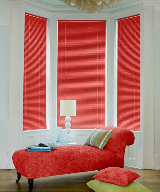 Red Aluminium Venetian Blinds