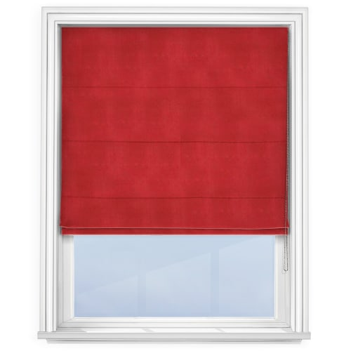 Red Roman Blind