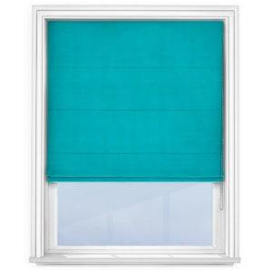 Turquoise Roman Blind