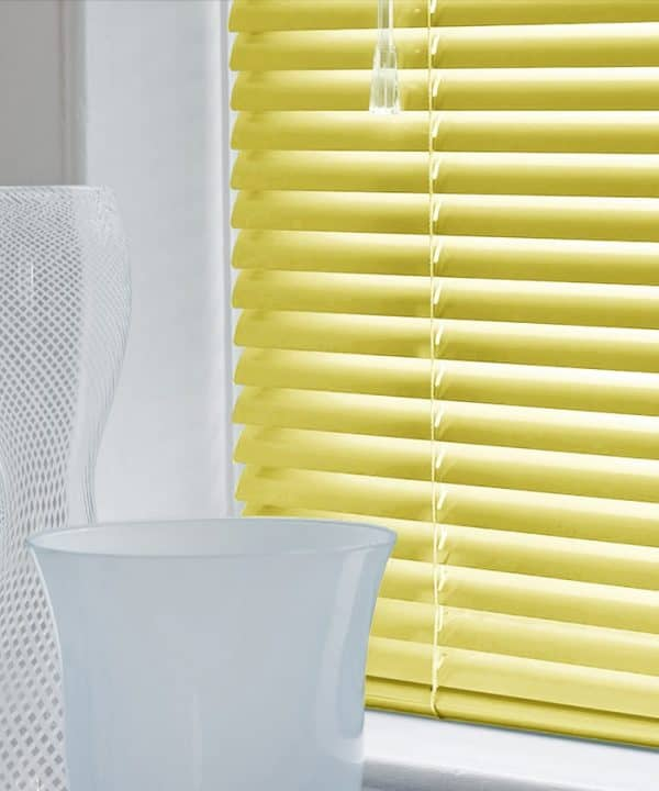Yellow Aluminium Venetian Blinds