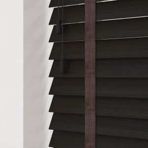 Cheap Dark Wenge Faux Wood Blind With Tapes