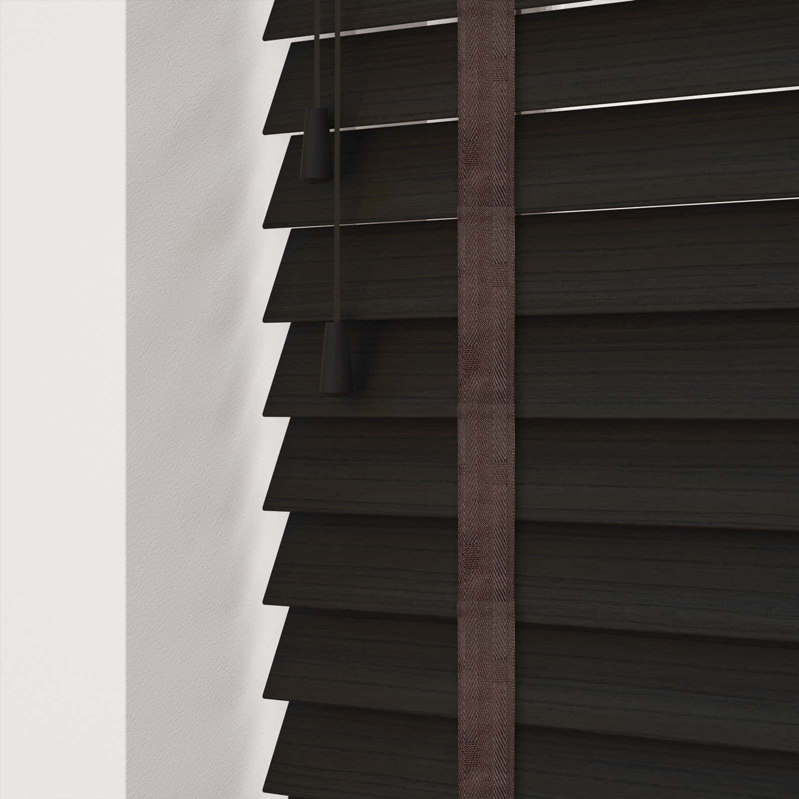 Cheapest Blinds Uk Ltd Dark Wenge Faux Wood With Tapes