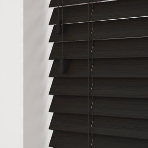 Dark Wenge Faux Wooden Venetian Blinds With Cords