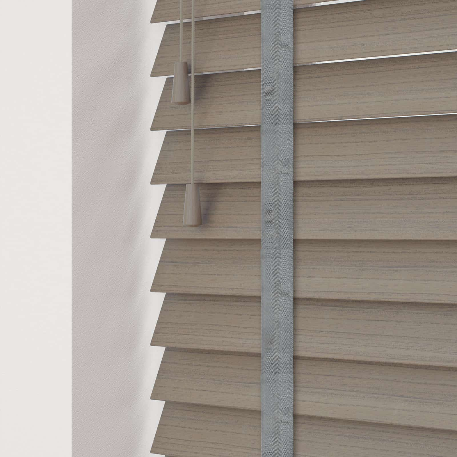 Cheapest blinds uk ltd acacia grey faux wood with tapes for What is faux wood