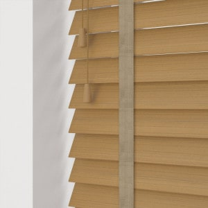 Light Oak Faux Wood Venetian Blinds With Tapes
