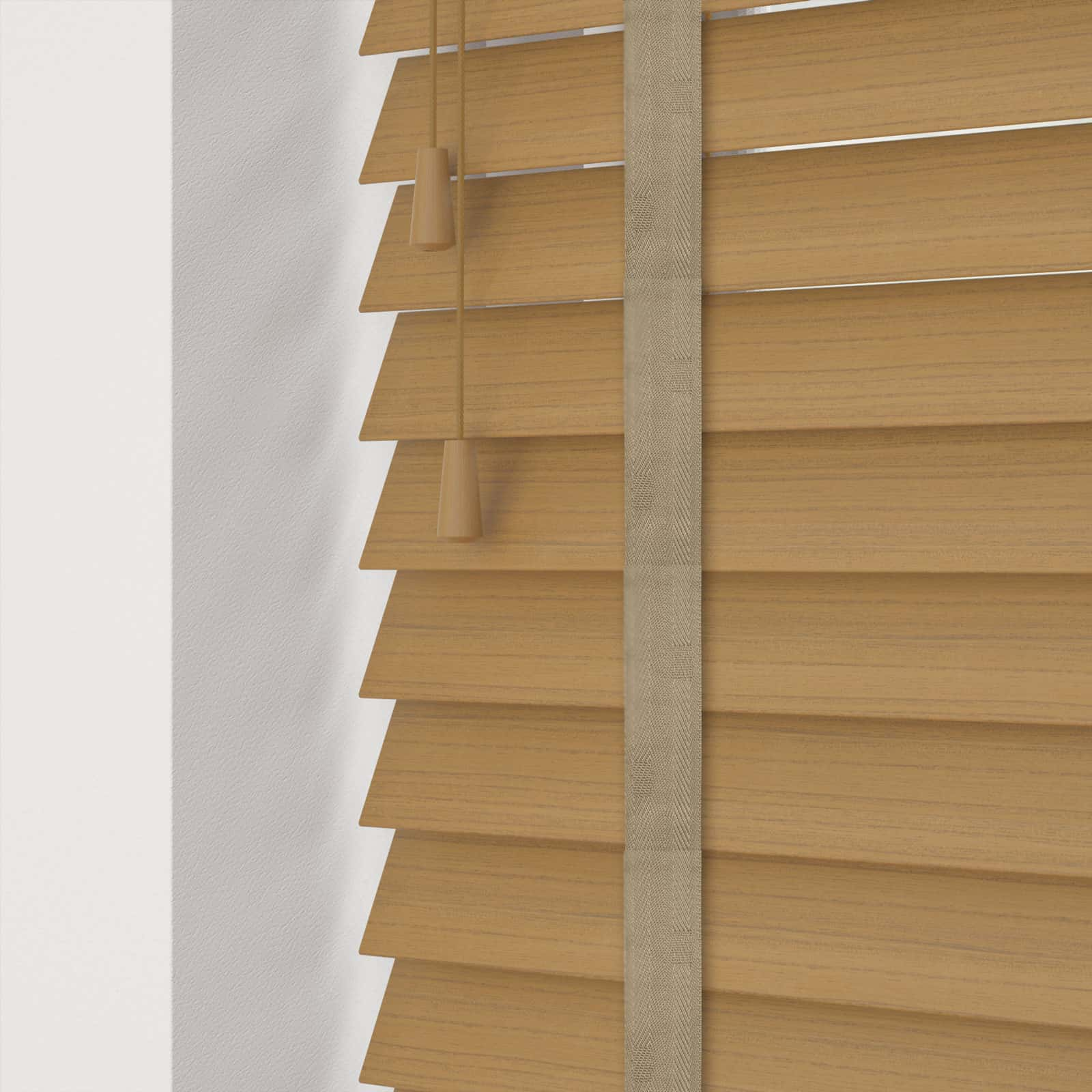 Cheapest Blinds Uk Ltd Light Oak Faux Wood With Tapes