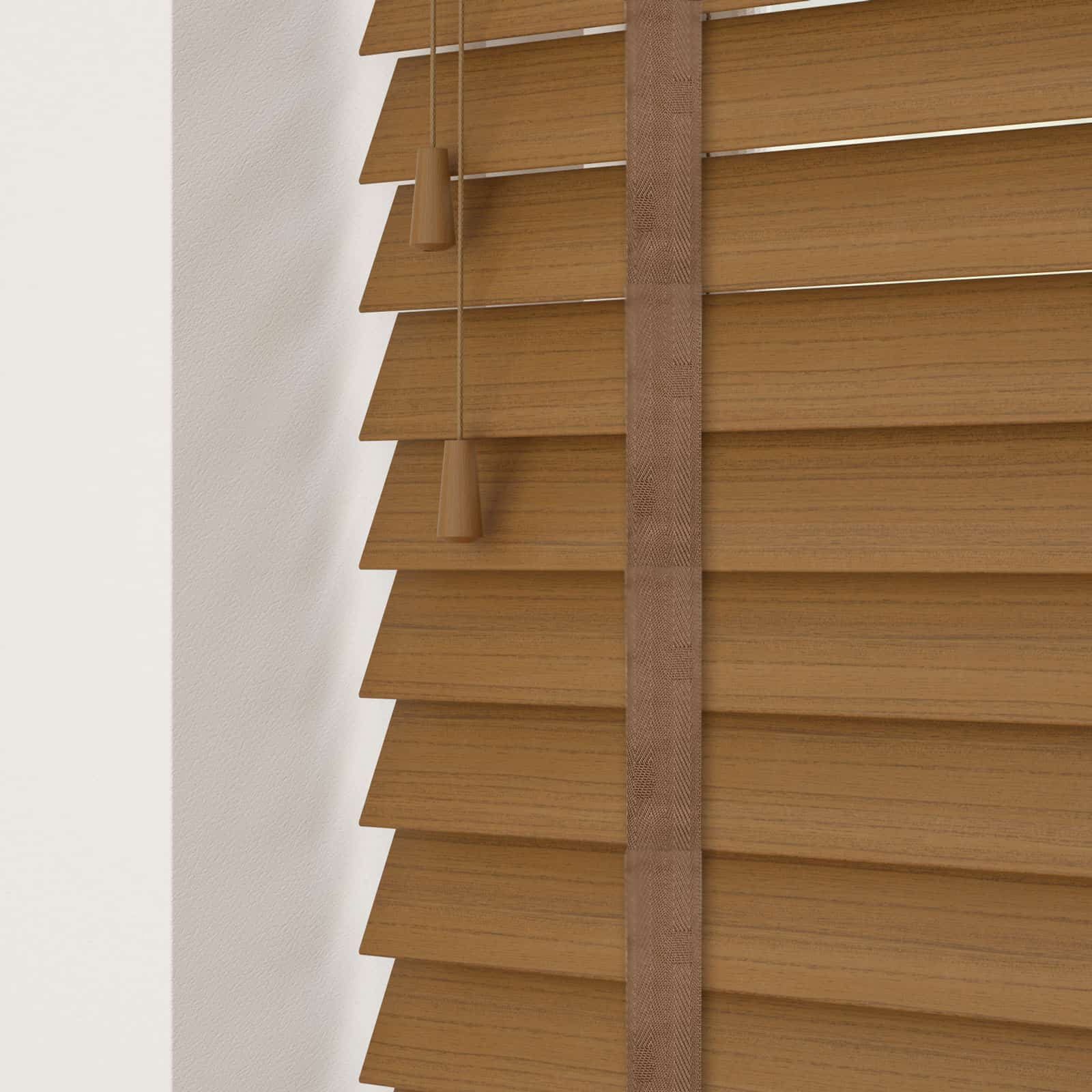Cheapest Blinds Uk Ltd Medium Oak Faux Wood With Tapes