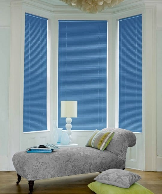 Cheap Ocean Blue Aluminium Venetian Blinds