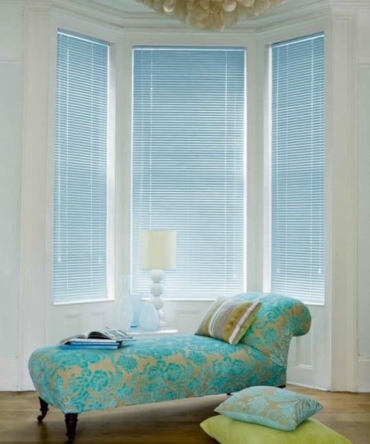 Cheap Pastel Blue Aluminium Venetian Blinds