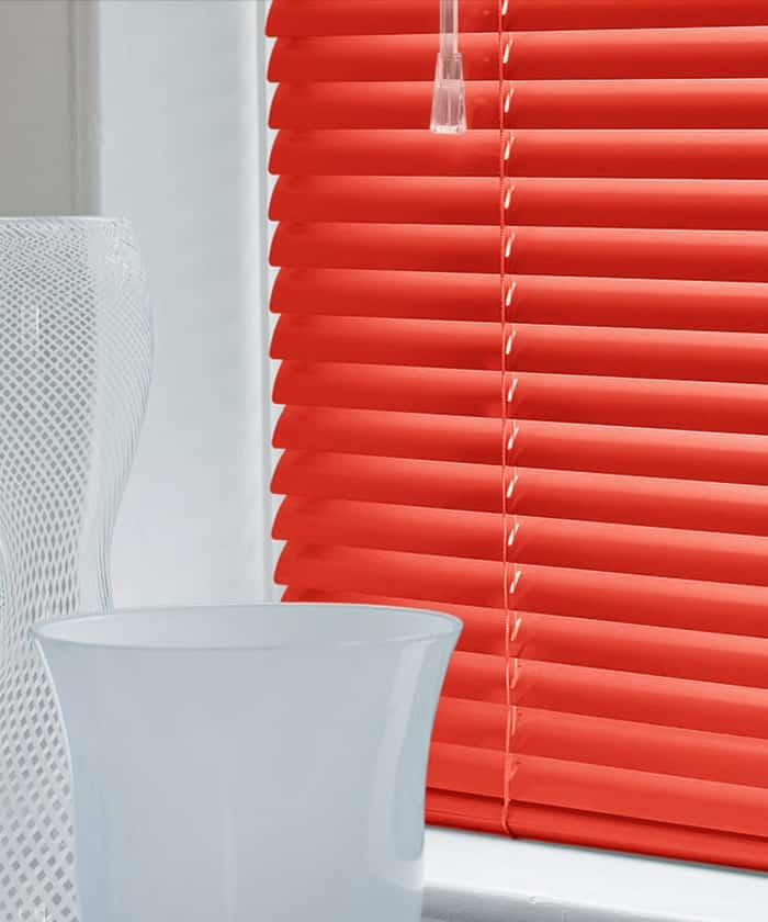 Cheapest Blinds UK Ltd Red Aluminium Venetian Blinds