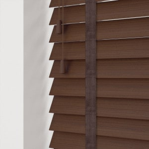 Cheap Walnut Faux Wood Blinds With Tapes