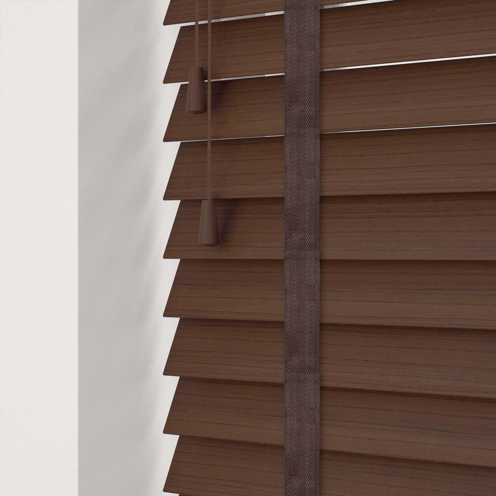 Cheapest Blinds Uk Ltd Walnut Faux Wood With Tapes