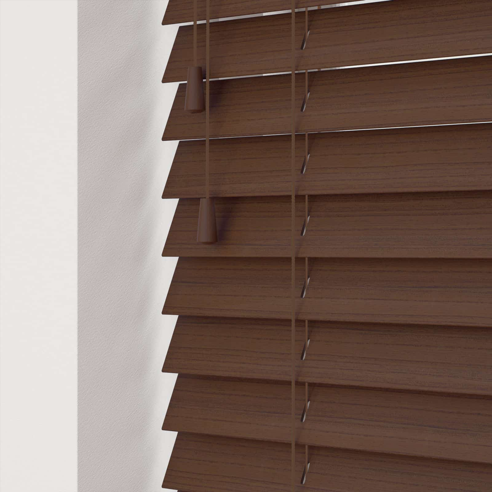 Cheapest Blinds Uk Ltd Walnut Faux Wood With Cords
