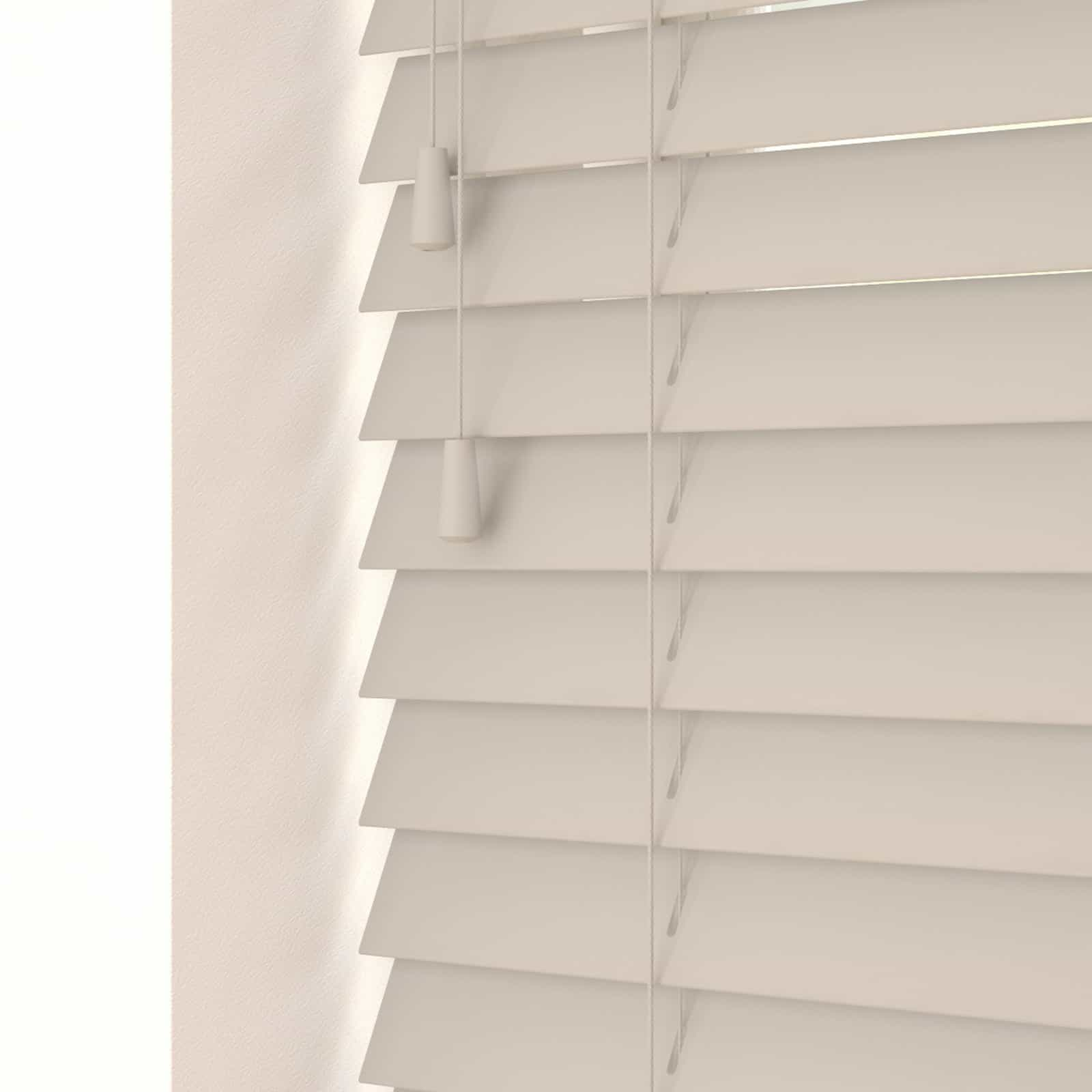 Cheapest blinds uk ltd cobblestone faux wood with cords for Cobblestone shutters