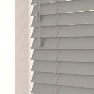 Steel Grey Wood Venetian Blinds