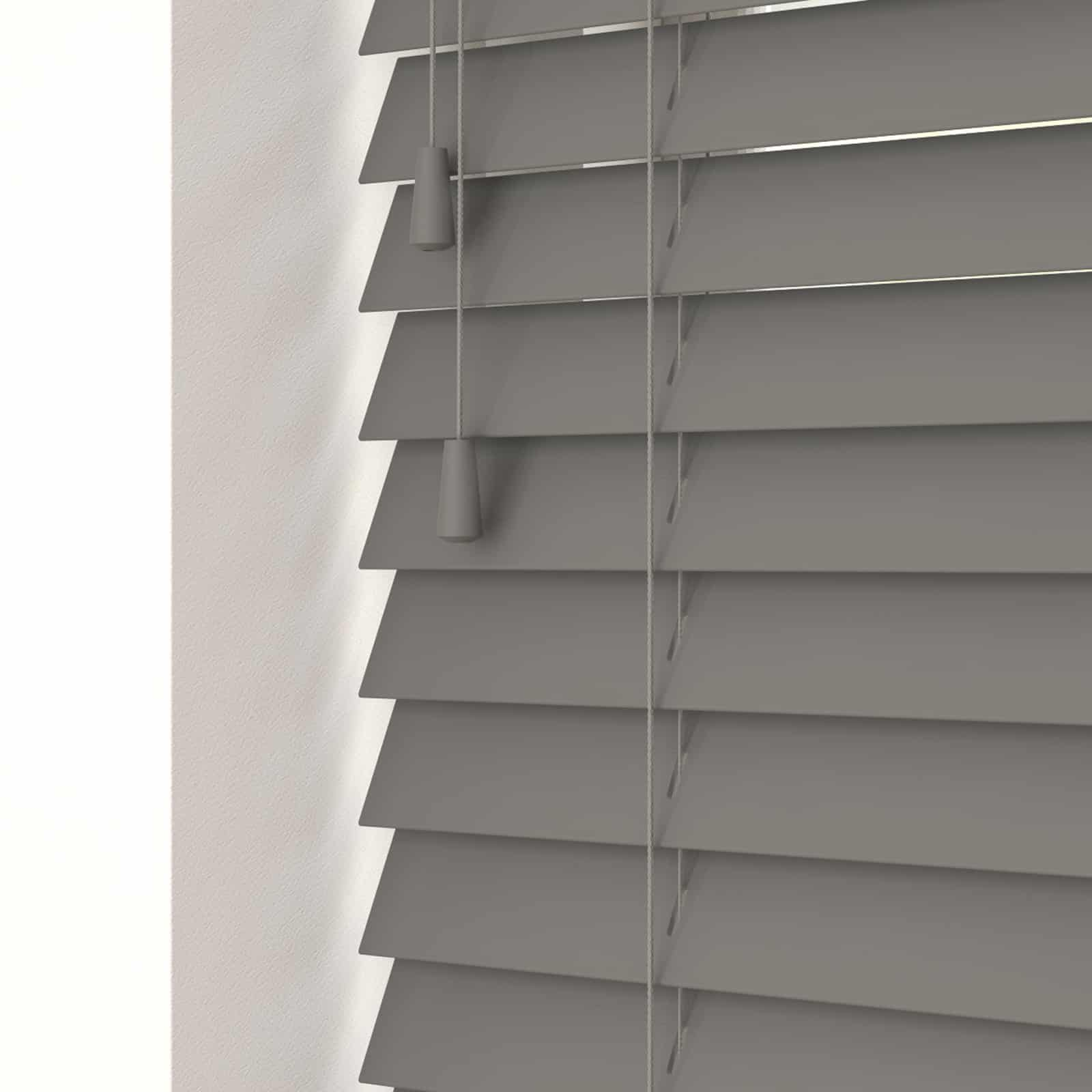 Urban Grey Faux Wood With Cords Cheapest Blinds Uk Ltd
