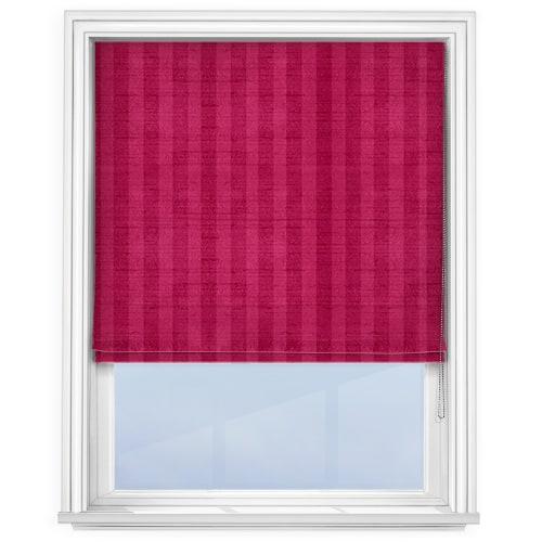 Fryetts Mono Stripe Fuchsia Pink Roman Blind