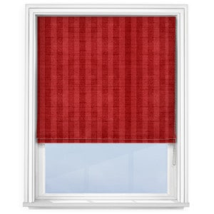 Fryetts Mono Stripe Red Roman Blind