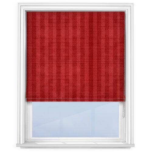 Fryetts Mono Stripe Red Roman Blind
