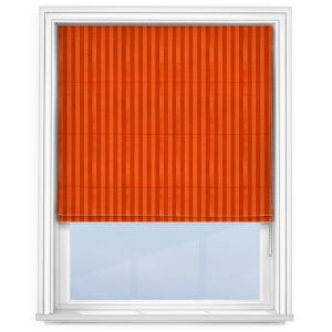 Fryetts Mono Stripe Spice Orange Roman Blind