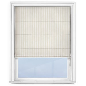 Fryetts Mono Roman Blind Stripe White Roman Blind