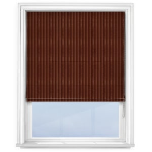Fryetts mono stripe bronze Roman Blind