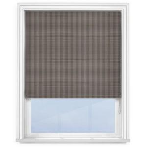 Fryetts mono stripe grey Roman blind