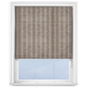 fryetts mono stripe latte roman blind