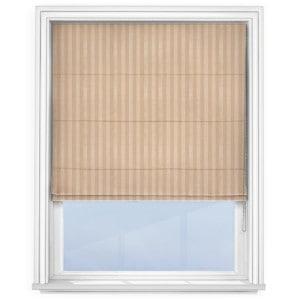 Fryetts mono stripe sand Roman Blind