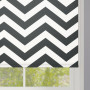 Black Zigzag Stripes Roller Blind