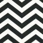 Black Zigzag Stripes Roller Blind Fabric Sample