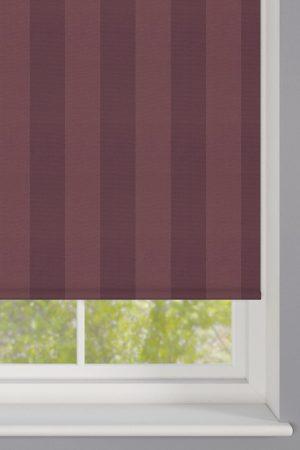 Burgundy Stripes Roller Blind
