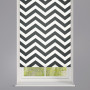 Black Zigzag Striped Roller Blind