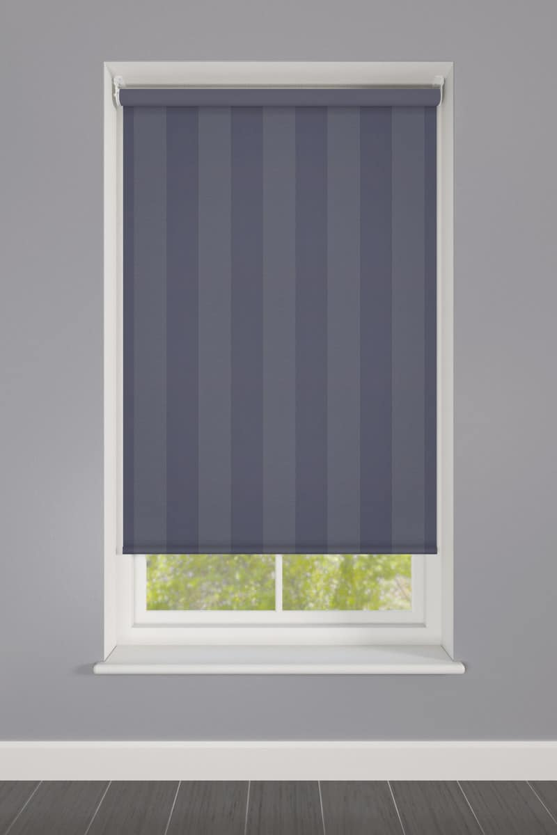 Cheapest Blinds Uk Ltd Blue Striped Roller Blind