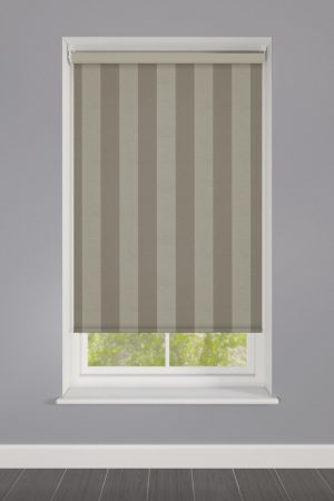 Dark Beige Striped Roller Blind