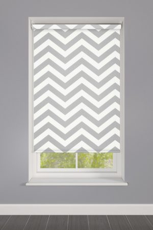 Grey Zigzag Striped Roller Blinds