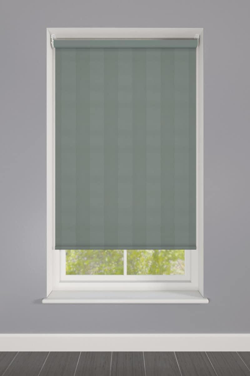Neutral Green Striped Roller Blind Cheapest Blinds Uk Ltd
