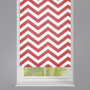 Red Zigzag Striped Roller Blind