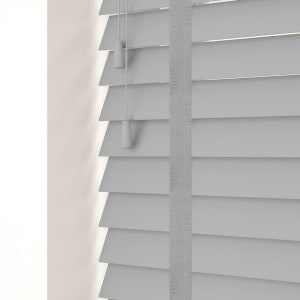 Dove Grey Faux Wood Venetian Blinds With Tapes