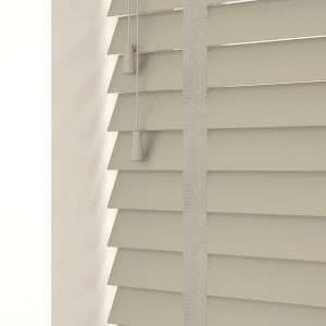 French Grey Faux Wood Venetian Blinds With Tapes