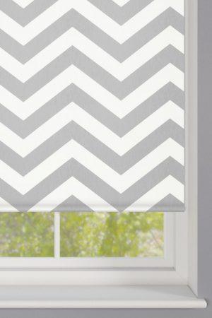 Grey Zigzag Stripes Roller Blinds