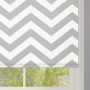 Grey Zigzag Stripes Roller Blinds