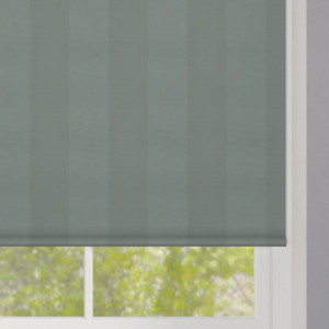Neutral Green Striped Roller Blind