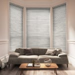 light grey wood venetian blinds