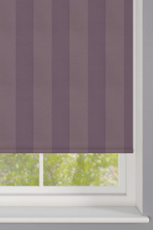 Purple Striped Roller Blind