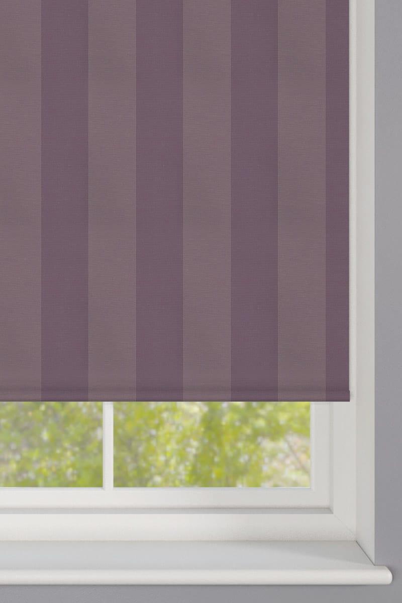Cheapest Blinds Uk Ltd Purple Striped Roller Blind