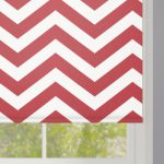 Red Zigzag Stripes Roller Blind