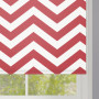 Red Zigzag Stripes Roller Blind