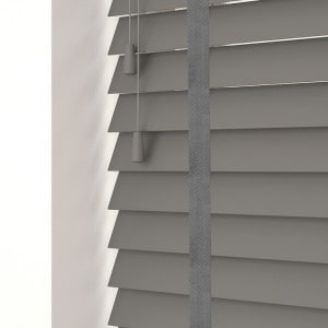 Urban Grey Faux Wood Venetian Blinds With Tapes
