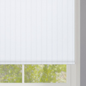 Sheer White Stripes Roller Blind